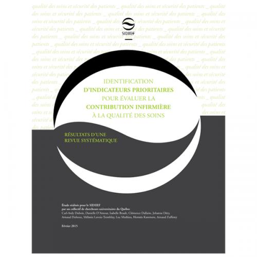 Indicateurs prioritaires pour évaluer la contribution infirmière à la qualité des soins : revue systématique des écrits